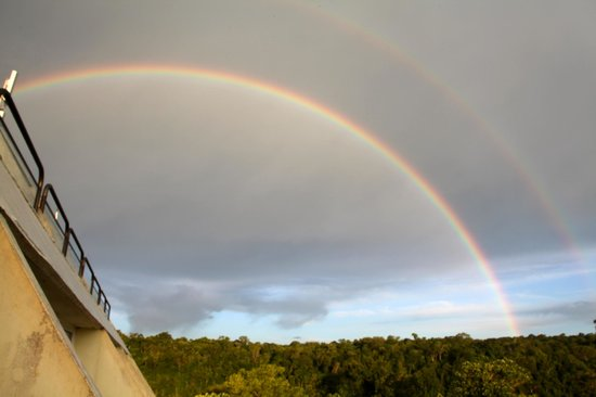 Bouble Rainbows seen at Sheraton Iguazu Resort & Spa