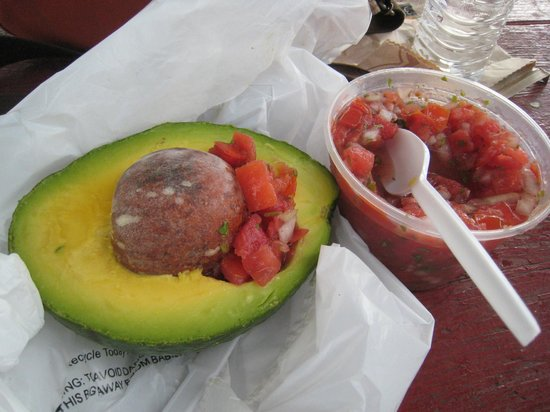 Robert is Here: My lunch - Florida Avocado with original salsa