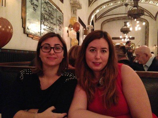 Callas Café & Restaurant : Andrea y Tita , cena en Cafe Callas 1-1-2014