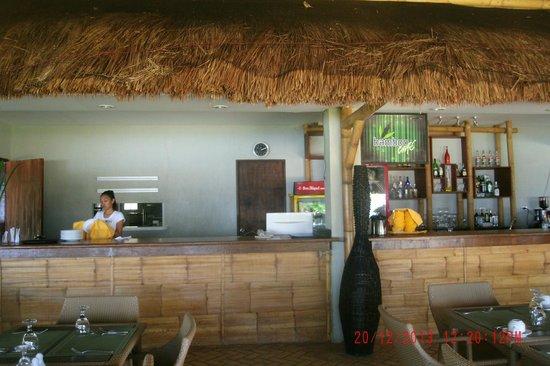 bamboo cafe counter area