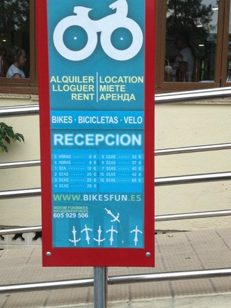 Jaime I Hotel : cycle rental charges