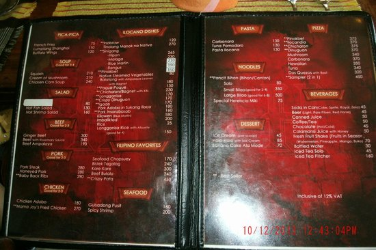 Herencia Cafe: Menu