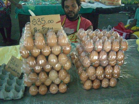 Honiara Central Market: 卵