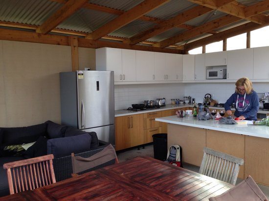 Pebble Point: Well equipped kitchen just take all your food. Has a communal fridge but no fridge in room. We t
