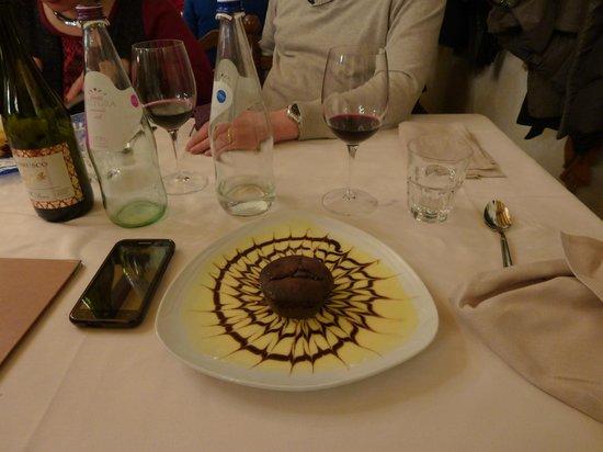Trattoria del Grillo: tortino al cioccolato