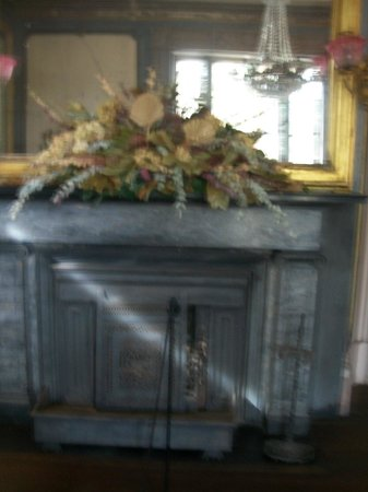 Aiken-Rhett House: Marble fireplace