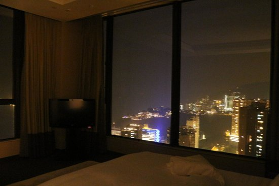 The T Hotel: view from the bedroom at night