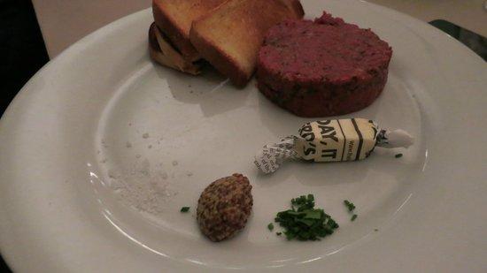 Restaurant Mark's: le tartare de boeuf