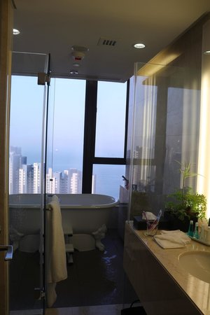 The T Hotel: view from the bathroom in the morning