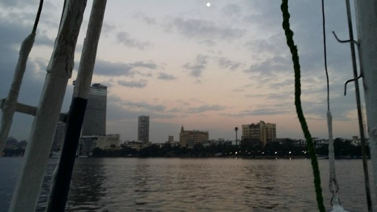 Memphis Tours: Canal boat on the Nile during the sun set