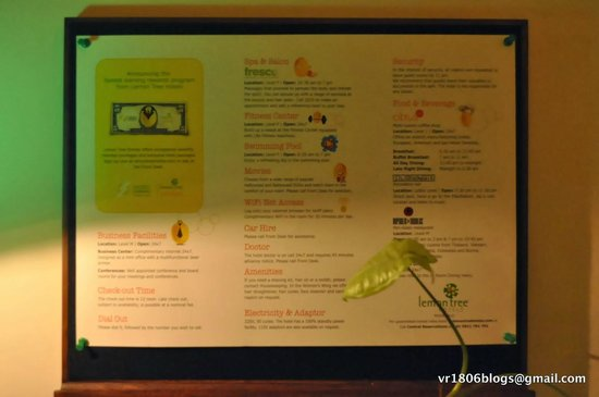 Lemon Tree Hotel, Electronics City, Bengaluru : A Well Crafted Menu of Options