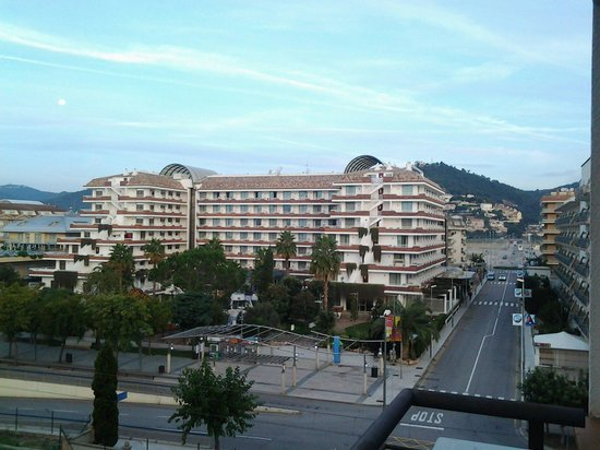 Thalassa Apartments : This street takes you to the shopping centre with the carrefour supermarket etc.. & a small mark