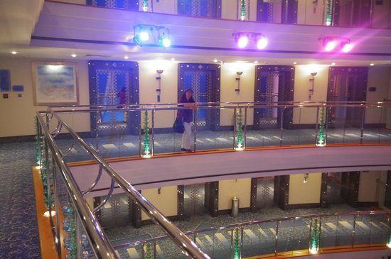 Jumeirah Beach Hotel: Flur im 16. Stockwerk