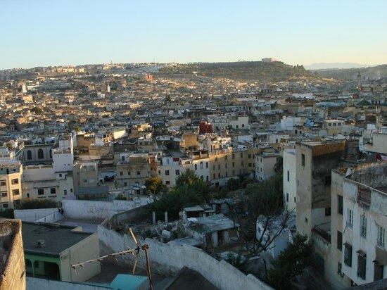Riad Nassim: Vista mozzafiato dal terrazzo...