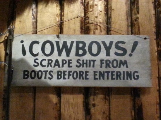 Steakhouse Texas: The whole restaurant is decorated with appropriate artifacts