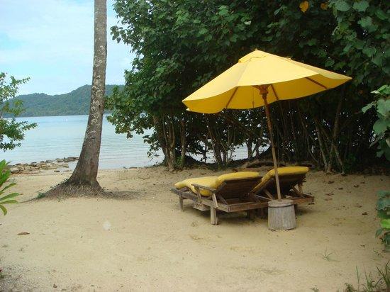 Soneva Kiri: Beach villa private beach