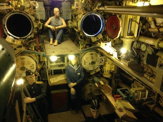 U-Bootmuseum U-434: intérieur