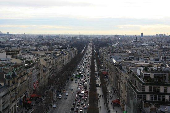 Hotel de Belfort : Uitzicht vanaf arc de triomph