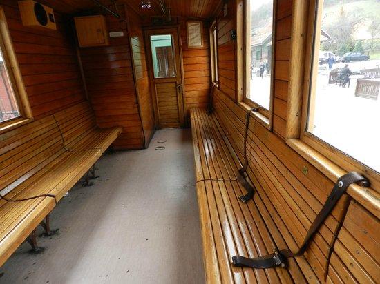 Nature Park Mokra Gora: The train inside