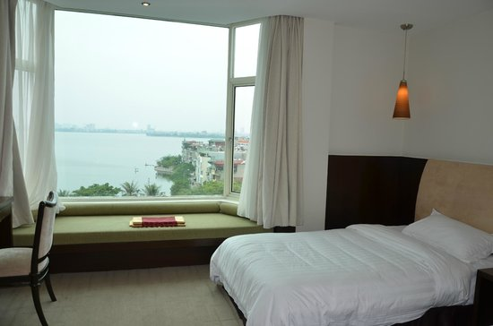 The Hanoi Club Hotel & Lake Palais Residences: Room with a view of the West Lake