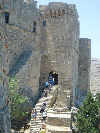 Hotel Mediterranean: Acrópole na cidade de Lindos / Ilha de Rodes