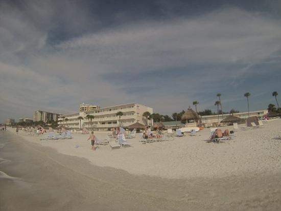 Sandcastle Resort at Lido Beach : view of the Helmsley from the beach