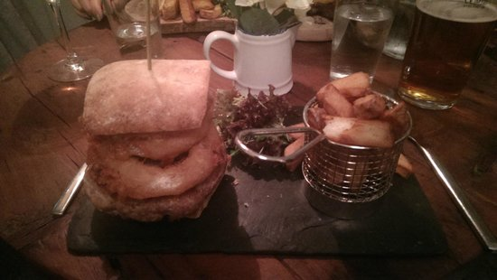 Lamb & Lion Inn: My home made peppered pork burger