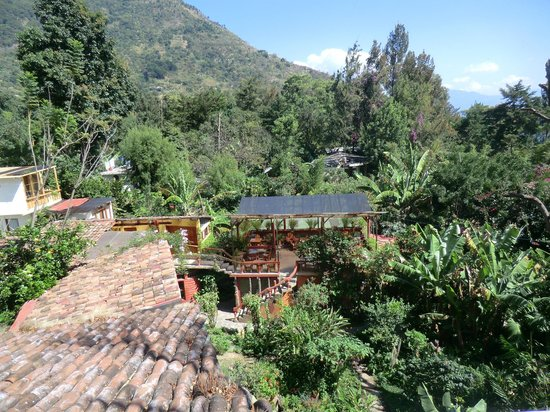 Lush Atitlan/Hotel Aaculaax: View of hotel from above