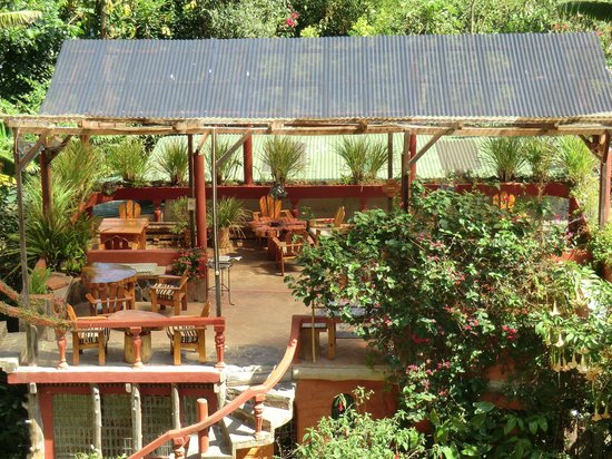 Lush Atitlan/Hotel Aaculaax: View of breakfast area from above