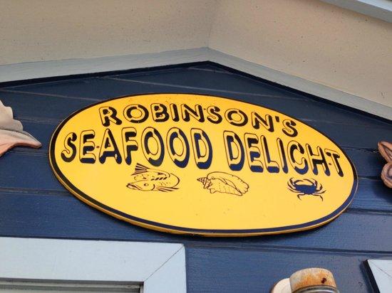 Robinson's Seafood Delight: logo