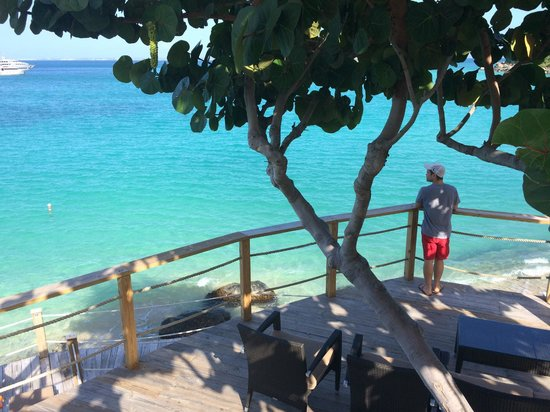 Grand Case Beach Club: taking in the views