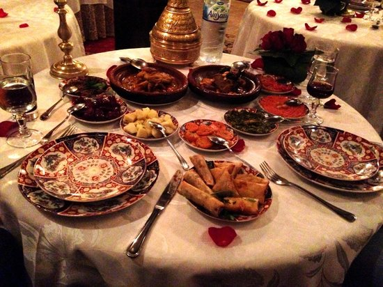 Riad Kniza Restaurant: This is just the third course of four!