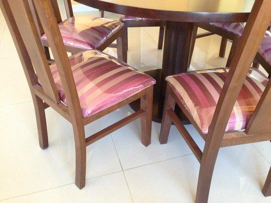 "Tetra Tree Hotel : Plastic the keep the chairs ""nice"""