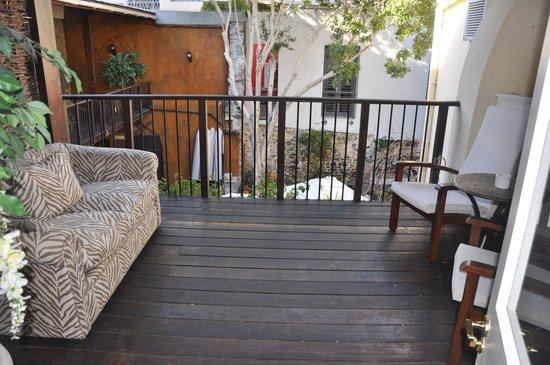 Cape Heritage Hotel: et le balcon