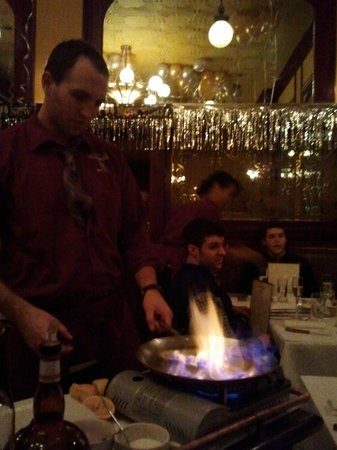Les Halles : Crepe Suzette at the table