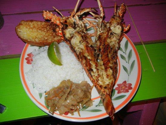 Enjoy: Whole lobster, delicious rice!