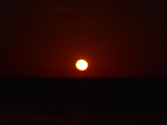 Da Lazy Fish: zonsondergang te zien vanaf het terras