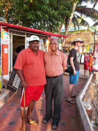 Pulari Gardens: i am with mr. sams (owner of Pulari Resorts) at helipad.
