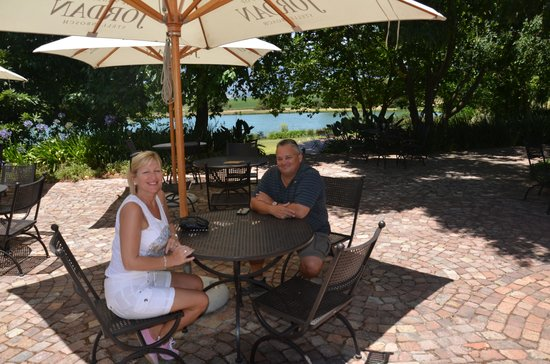 Jordan Wine Estate: Enjoying the wine!