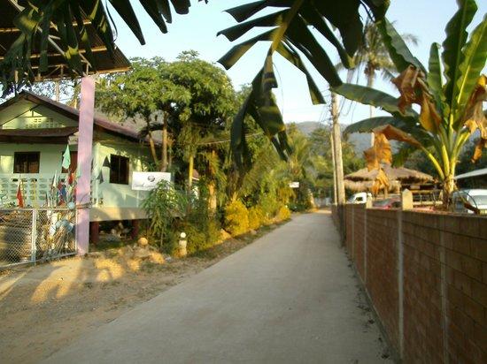 Sanook Sanang Resort: Bungalows, neben den Elefanten