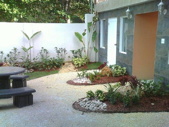 Hotel Colombus: Indoor patio
