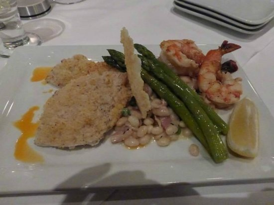 The Five Fishermen (upstairs only) : Crab crusted haddock plus 3 large shrimp!