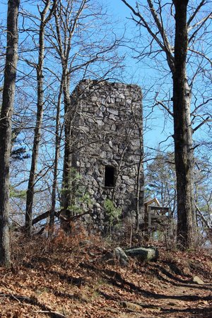 Fort Mountain State Park: Tower built in the 1900's