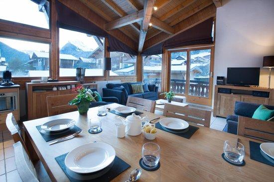 Residence L'Aiglon de Morzine: 3-bedroom+cabin - living area