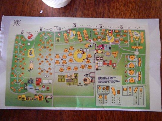 Grand Palladium Punta Cana Resort & Spa: Hotel Map