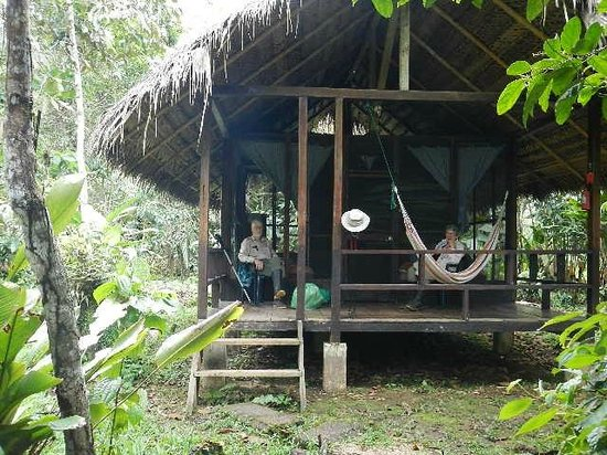 Huaorani Ecolodge: One of the cabins at the lodge.