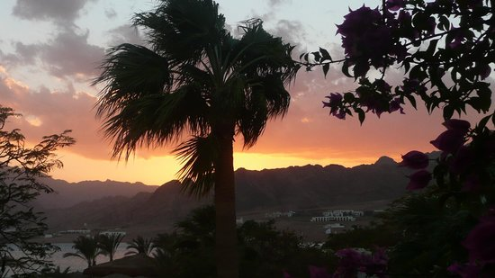 Swiss Inn Resort: view from balcony to sea and near Sinai mountains