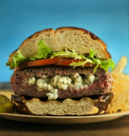 The Firehouse Cafe: The Stuffed Burger