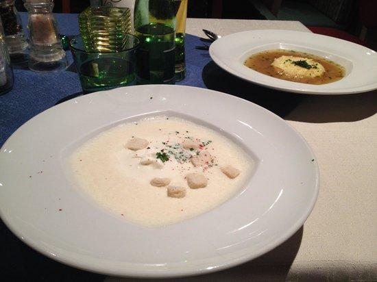 Kupferstub'n : Squisita vellutata d'aglio.