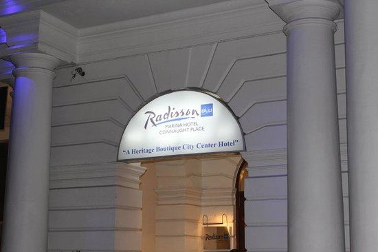 Radisson Blu Marina Connaught Place: First view of hotel!